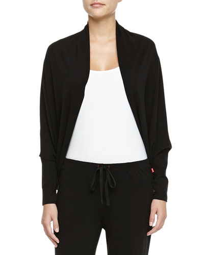 Peachy Jersey Cocoon Sweater, Black