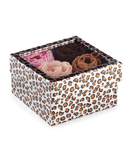 4-Pack Box Set Of Low-Rise Lace Thongs, Hot Fudge