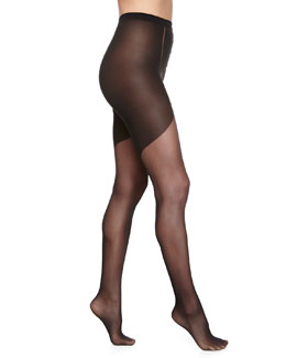 Tilda Sheer Tights w/ Crystal Detail, Black