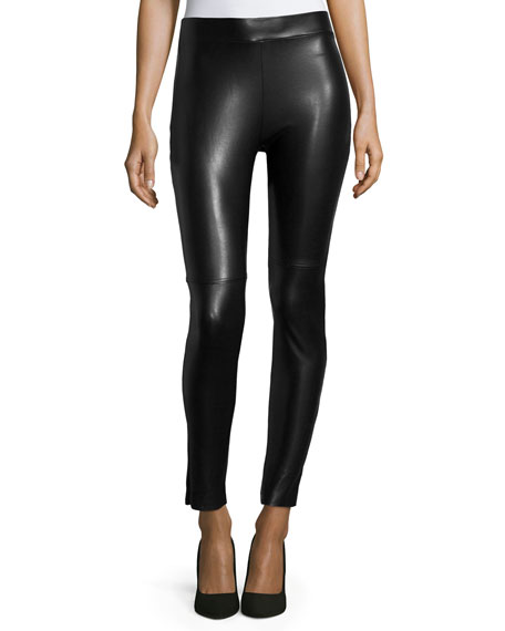 Wolford Estella Faux-Leather Leggings, Black