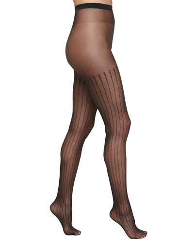 Rachel Tights with Squares, Black