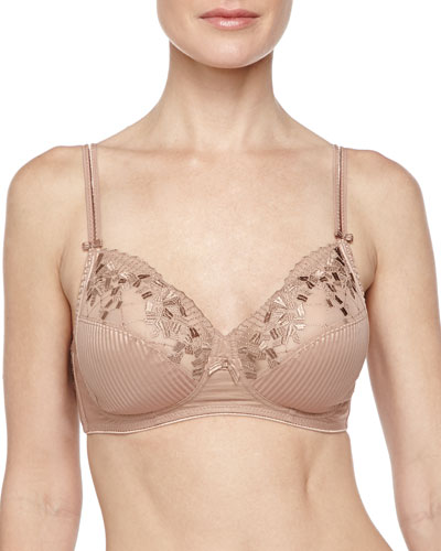 Pont Neuf 3-Part Soft Cup Bra, Cinnamon
