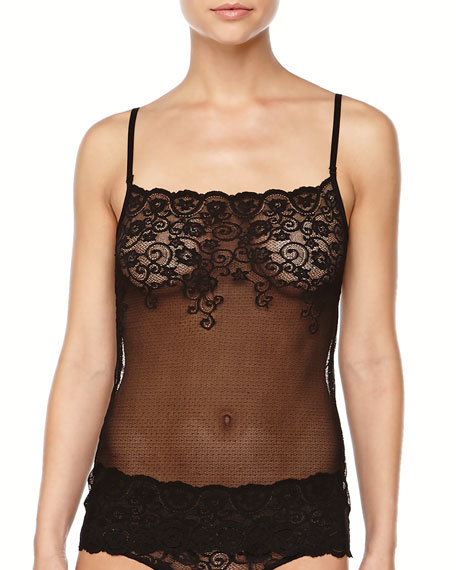 Double Take Allover Lace Camisole, Black