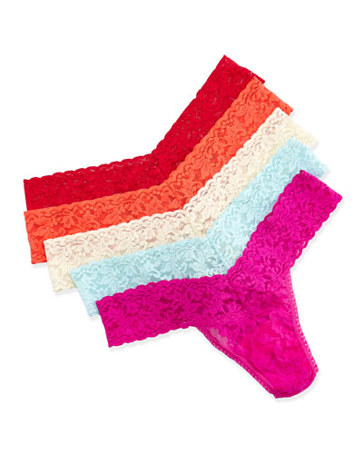 Low Rise Five-Pack Thongs, Cape May
