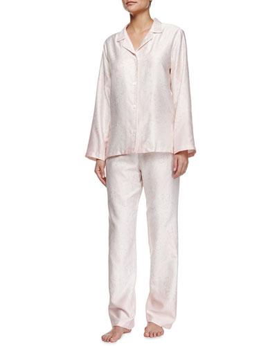 Illusion Damask Two-Piece Pajama Set