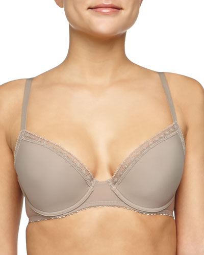 Satin Seduction Contour Bra, Warm Taupe