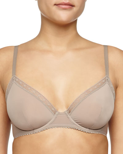 Satin Seduction Underwire Bra, Warm Taupe