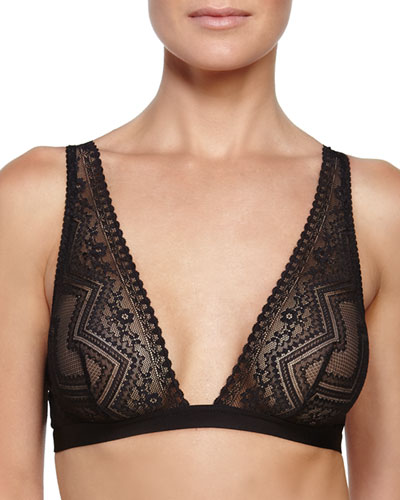 Vittoria Lace Soft Bra, Black
