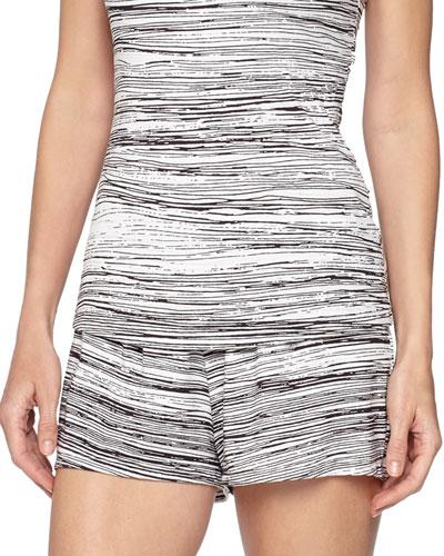 Ambracia Striped Boxer Shorts, Black/White