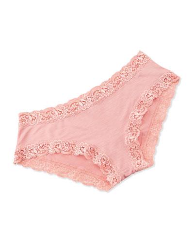 Top Drawer Lace Panty, Coral Blush