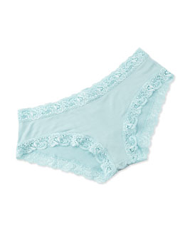 Top Drawer Lace-Trimmed Panty, Powder Blue