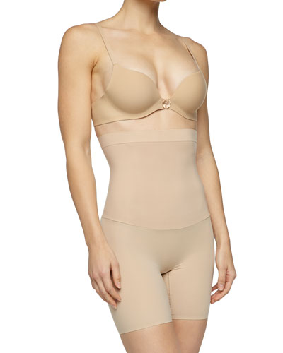 Shape My Day High-Waist Mid-Thigh Shaper, Natural