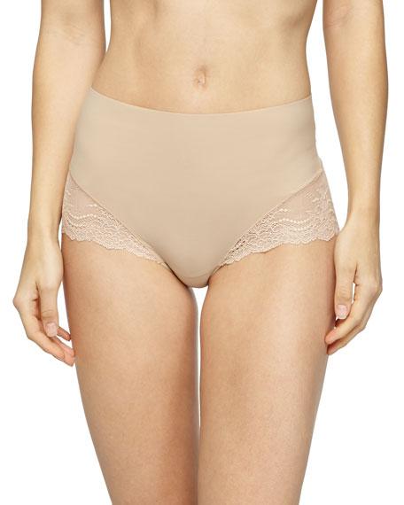 Spanx Undie-Tectable® High-Waist Lace Boyshorts, Soft Nude