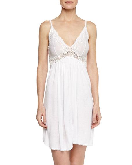 Colette Lace Chemise, White