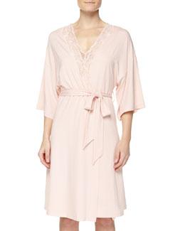 Valencia Jersey-Knit Robe, Dusty Rose