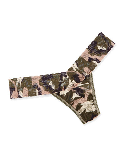 Hunter Low-Rise Camo-Print Thong, Multi