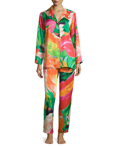 Garbo Floral-Printed Pajama Set, Multicolor