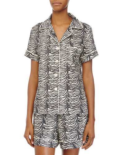Classic Shorty Pajama Set, Zebra