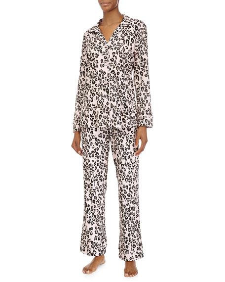 Bedhead Classic Long-Sleeve Pajama Set, Pink Leopard, Women's