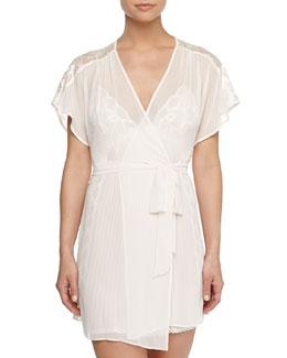 Tessa Chiffon Short Robe, Light Pink
