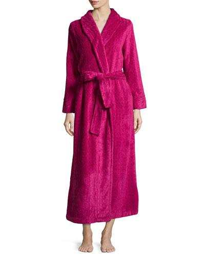 Long Plush Comfort Robe, Cranberry