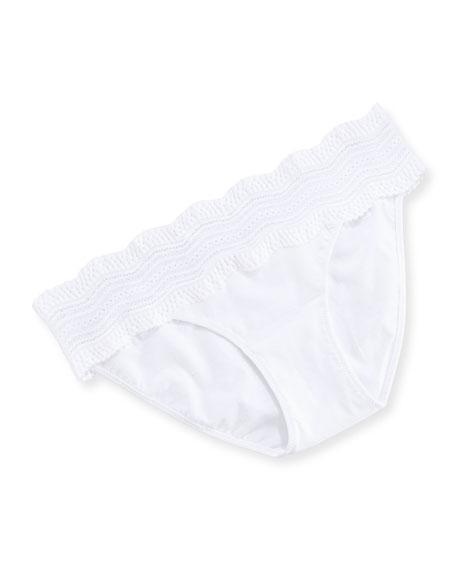 Cosabella Dolce Vita Low-Rise Bikini Briefs, White
