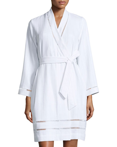 Oscar de la RentaLuxe Spa Short Robe, White
