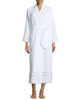 Luxe Spa Long Robe, White