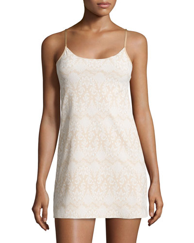 Lady Lace Mini Cami Slip, Nude
