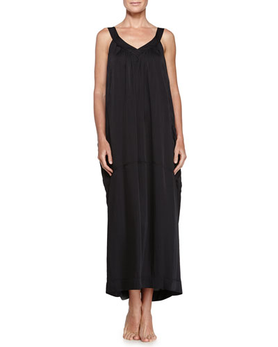 Laundered Long Gown, Black