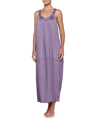 Laundered Long Gown, Lilac