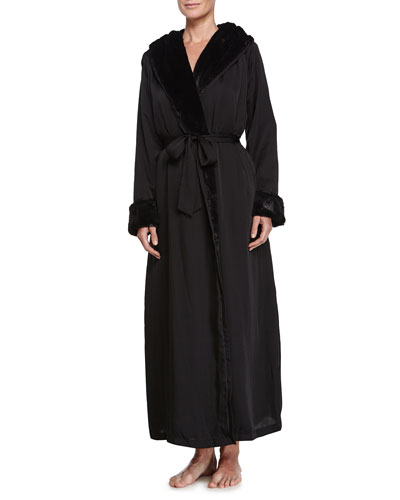 Laundered Long Robe, Black
