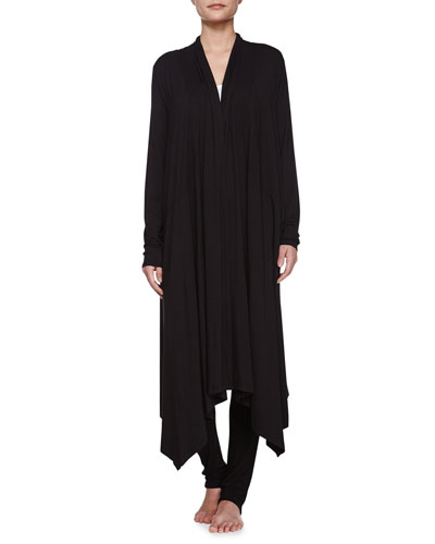 Liquid Jersey Lounge Cardigan, Black