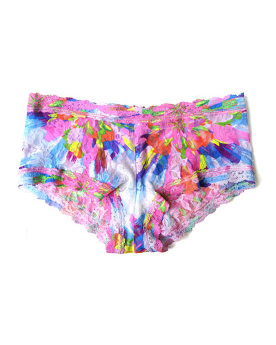 Colorburst Printed Signature Lace Boyshorts, Multicolor