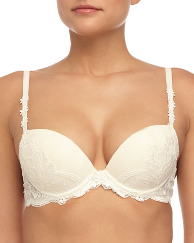 Amour Lace Pushup Bra, Ivory