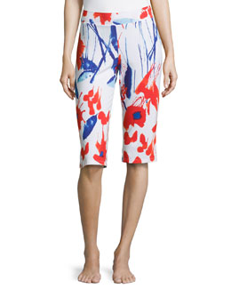 Papavero Printed Capri Pants, Rossetto