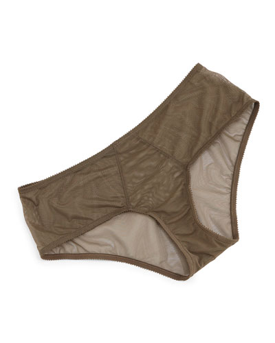 Revelation Beaute Sheer Boyshorts, Light Brown