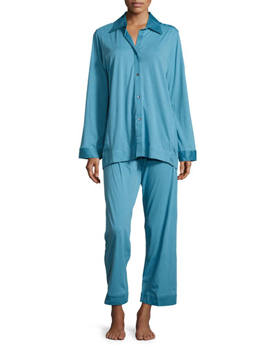 Pima Cotton Pajama Set, Sky Blue