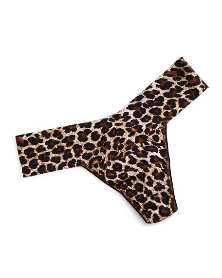 Hanky Panky Bare Eve Leopard-Print Thong, Leopard