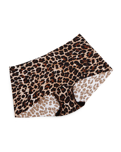Bare Eve Leopard-Print Boyshorts, Leopard