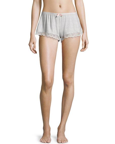 Eberjey Secret Attic Lace Lounge Shorts Earl Gray