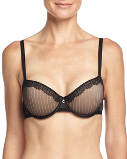 Evidence Demi T-Shirt Spacer Bra, Black/Nude