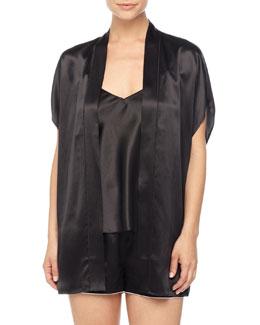 Short Silk Cocoon Robe