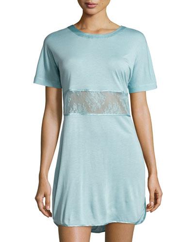 Eva Lace-Inset Sleepshirt