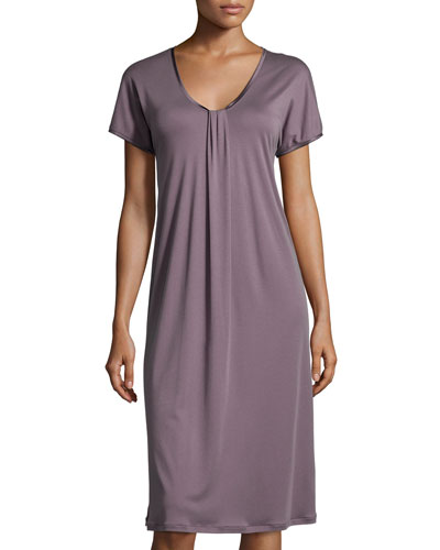 Astrid Cap-Sleeve Gown, Elderberry