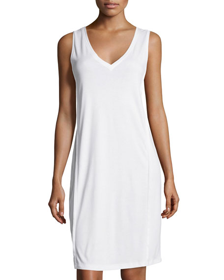 Hanro Pure Essence Tank Gown, Off White