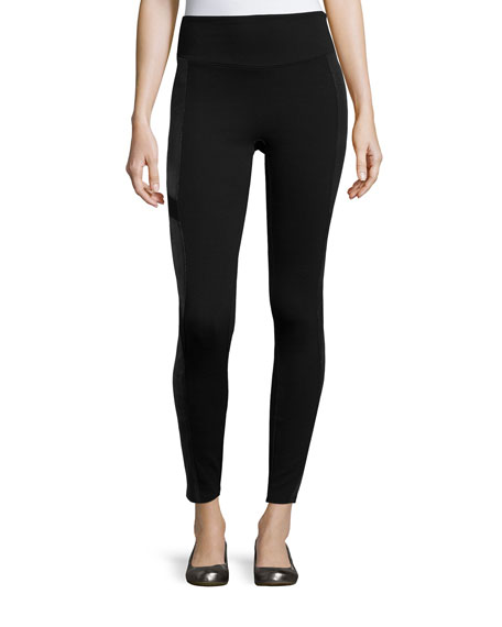 Spanx Moto Ponte Leggings, Very Black