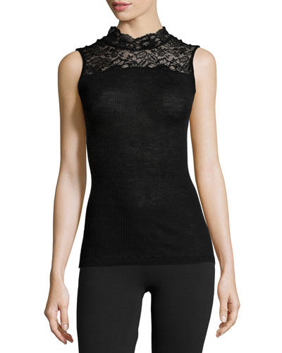 Contance Sleeveless Top W/Lace