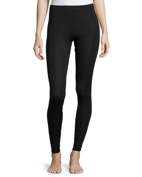 Hanro Cashmere-Silk Blend Leggings, Black
