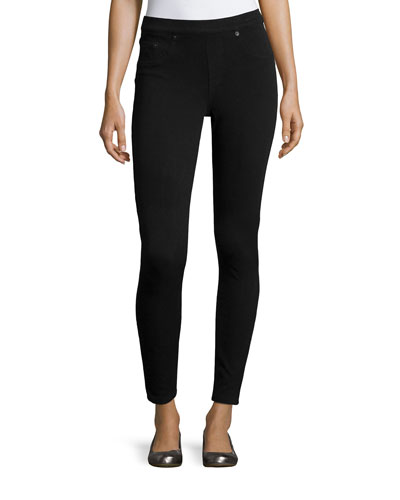 Jean-Ish Twill Leggings, Very Black